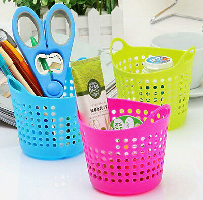 Desk Plastic Mini Decor Home Organizer Useful Storage Basket Portable Stationery
