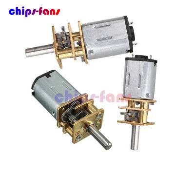 6/12V 300/600/30RPM Mini DC Metal Gear Motor with Gearwheel Shaft Diameter N20