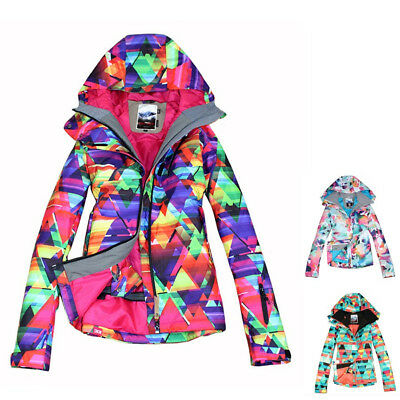 Women Snowboard Jacket Waterproof Winter Hooded Outdoor Snow Ski Jacket  Coat