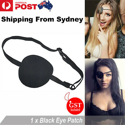 Black Medical Use Concave Eye Patch Groove Washable Eyeshades Hollween  Party