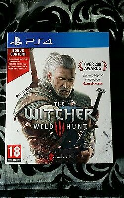 The Witcher 3: Wild Hunt - Preorder Edition (Sony PlayStation 4, 2015)(Like New)