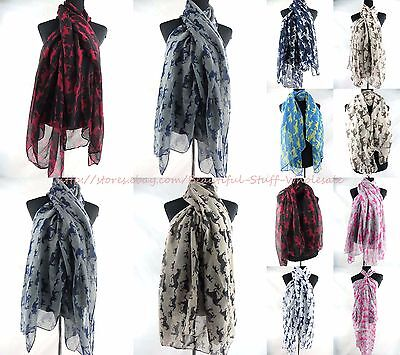 US SELLER-lot of 5 equestrian horses equine animal maxi scarves sarong shawl