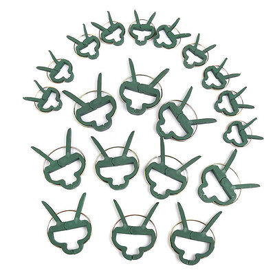 20pcs Sprung Plastic Plant Garden Securing Flowers Vegetable Bushes Clips Hot