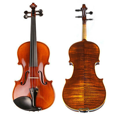NAOMI VIOLIN Handmade Violin 3/4 Top Grade Antique Maple Violin Natural Strip