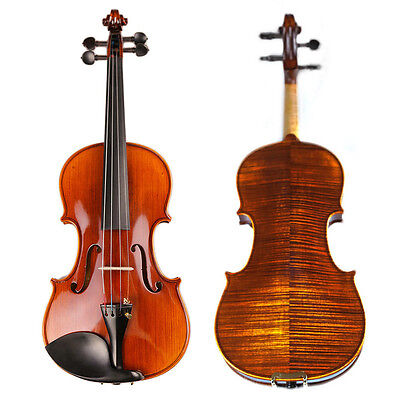 NAOMI VIOLIN Handmade Violin 1/2 Top Grade Antique Maple Violin Natural Strip
