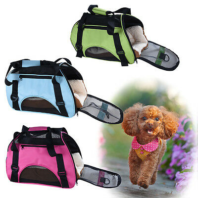 Cage Sac Bandoulière Chien Chat Transporter Portable Voyage Pliable Tapis Neuf