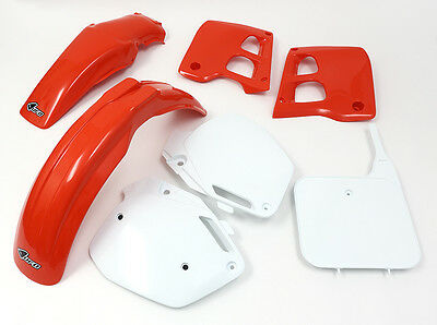 UFO Honda Motocross CR 250 1990 - 1991 Super EVO Plastic Kit OEM colours