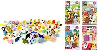 IWAKO Japanese Novelty Puzzle Eraser Rubber Zoo Farm Gorilla Lion Animals