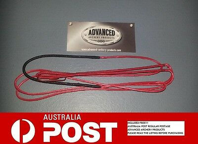 Recurve Archery Bow String (RED 8125G Material) Australian Made. All Lengths