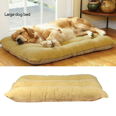 Large Pet Kennel Nesting Sleep Bed Dog Pad Warm Mat Soft Fleece Cat Cushion
