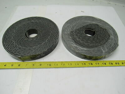 2 Rolls Of 1 Ply Black Interwoven Smooth Top Conveyor Belt 0.203""