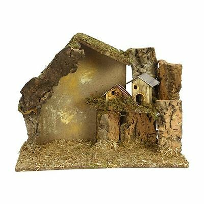 Christmas Nativity Surround Crib with Small Village Ideal for Displays