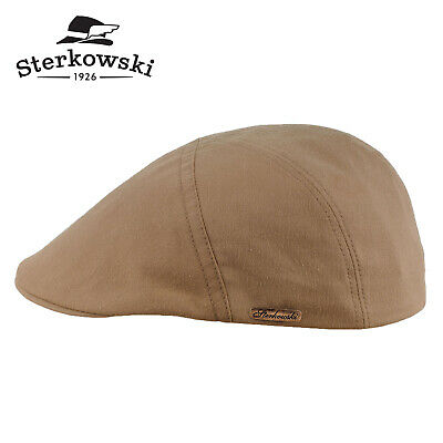 b56b70378 STERKOWSKI IVY FIVE Cotton Flat Cap Lightweight Newsboy Paperboy ...