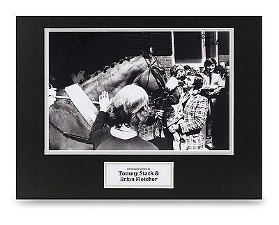 Brian Fletcher & Tommy Stack Signed 16x12 Photo Red Rum Autograph Display + COA