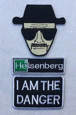 Breaking Bad Heisenberg Walter White I Am The Danger Embroidered Iron on Patch