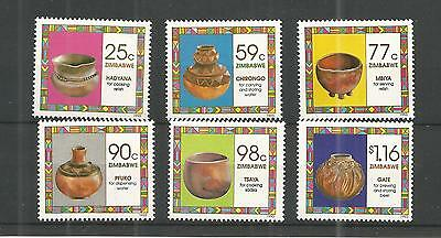 Zimbabwe 1993 Household Pottery Sg,854-859 Un/mm Nh Lot 896A