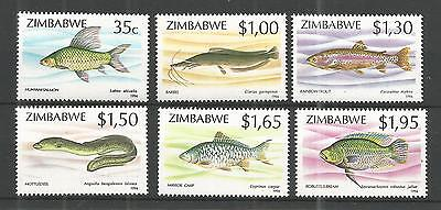Zimbabwe 1994 Fish 2Nd Series Sg,864-869 Un/mm Nh Lot 898A