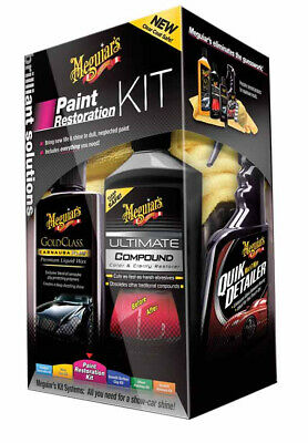 MEGUIAR´S Paint Restauration Kit Lack Politur Aufbereitung Set G3300EU