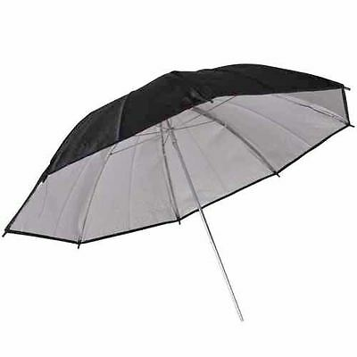 Kaavie Thick 33'' inch / 84cm Black/Silver Reflector Umbrella 8mm Shaft
