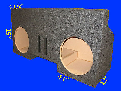 "Chevrolet Chevy Camaro / Z28 1984-92 12"" Ported Grey Subwoofer Sub Enclosure Box"