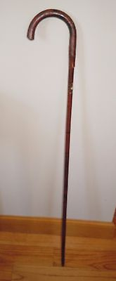 L@@k! Vintage 1939 New York Worlds Fair Solid Wood Cane Walking Stick 77 Yrs Old