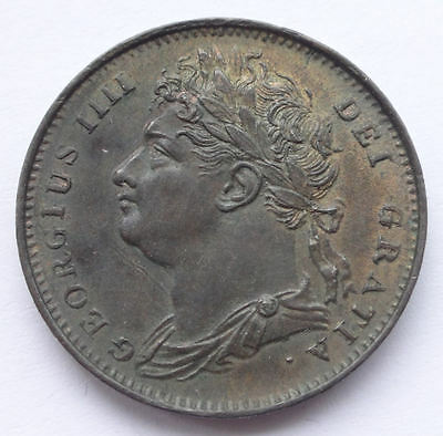 George IIII Farthing 1821 coin nEF - aEF some lustre ~ 967