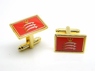 England Middlesex Flag Cufflink and Tie Pin Set