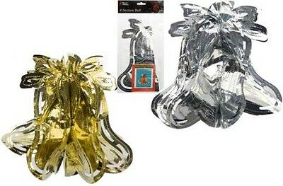 Job Lot Of 48 Christmas Foil Bell Decorations FREE POSTAGE