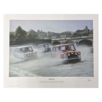 Mini Italian Job Splashing Out by Robert Tomlin LTD EDITION
