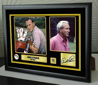 "Arnold Palmer Golf Framed Canvas Tribute Print Signed Ltd. Edition ""Great Gift"""