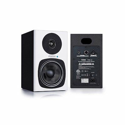 Fostex PM0.4d Personal Active 2-Way Home Studio Speaker Monitor Pair PMO White