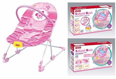 Girl's Baby Bouncer Rocker Reclining Chair Soothing Music Vibration, Toys, Girl