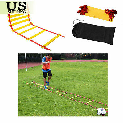 8 12 20 Rung Speed Agility Ladder Soccer Sports Ladder Feet Training w/Carry Bag