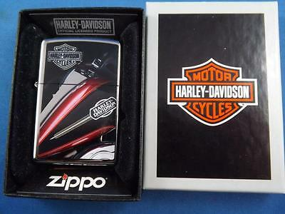 Harley Davidson Zippo Lighter Motorcycles Gas Tank Logo Collector New Gift Box