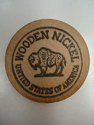 Vintage Wooden Nickel Middlesex County Numismatic Society Middletown Conn 1972