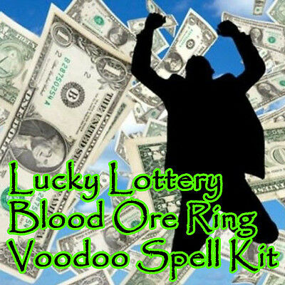 Lucky Lottery Money Voodoo Blood Ore Ring Spell Kit Ritual Lotto Money Hoodoo
