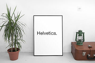 A4 Typography Decor gift Poster Print Picture Wall Art Helvetica.