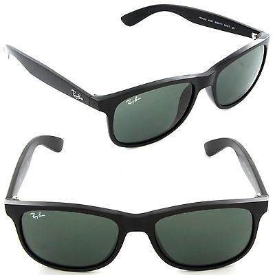 New Ray-Ban Andy RB4202 6069/71 Sunglasses Matte Black /Dark Grey Lens Fast Ship