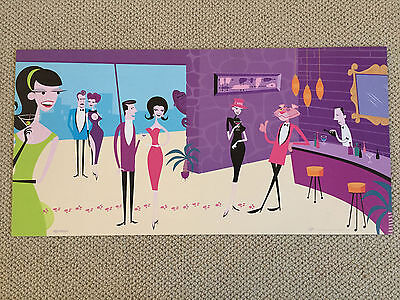 SHAG Promo AD Poster Pink Panther' Penthouse Party Josh Agle Virgin Records RARE
