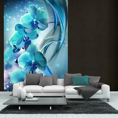 fototapete fototapeten wandbild poster orchidee t rkis. Black Bedroom Furniture Sets. Home Design Ideas