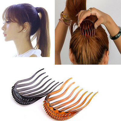 Ponytail Hair Styling Clip Comb Stick Bun Maker Braid Tool Hair Accessories new