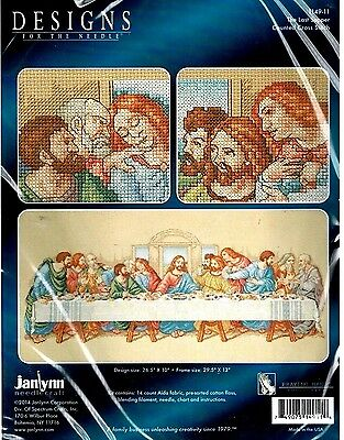 THE LAST SUPPER Counted Cross Stitch Kit Jesus Janlynn Religious New