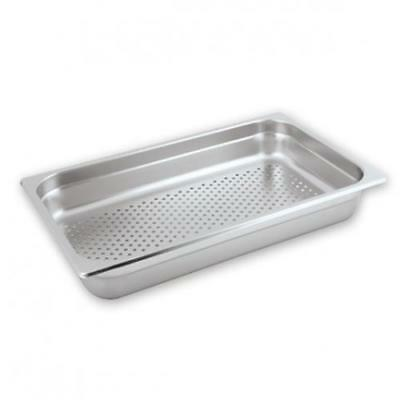 6x Bain Marie Tray / Steam Pan / GN Perforated 1/1 Size, 100mm, Stainless Steel