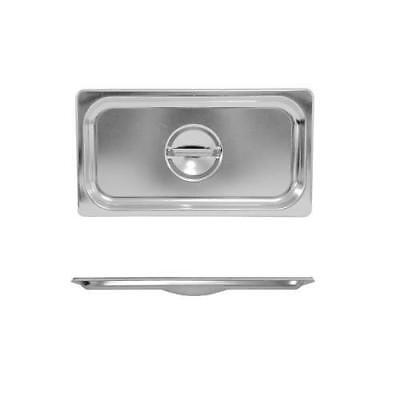 3x Lid for Bain Marie Tray / Steam / Gastronorm Pan 1/3 Size Stainless Steel