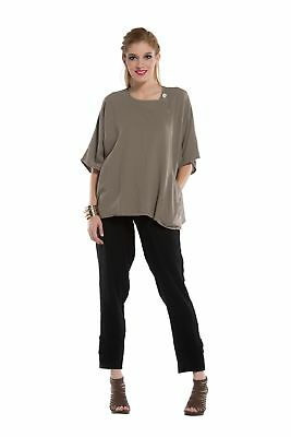 Oh My Gauze Athena Blouse Tunic Top 100% Cotton Lagenlook Half Sleeve