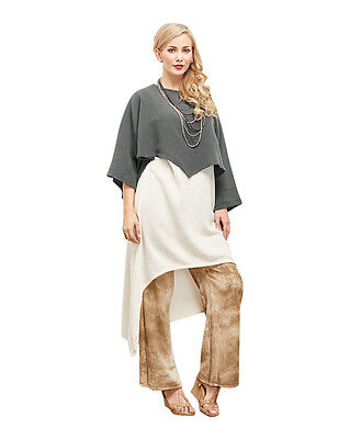 Oh My Gauze Vanna Blouse Tunic Top 100% Cotton Lagenlook Poucho