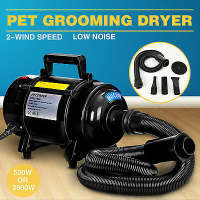 2800W Dog Cat Hairdryer Pet Grooming Fur Hair Dryer Heater Blaster Blower Black