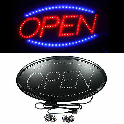 Ultra Bright LED Neon Light Animated Motion with ON/OFF OPEN Business Sign OvalS
