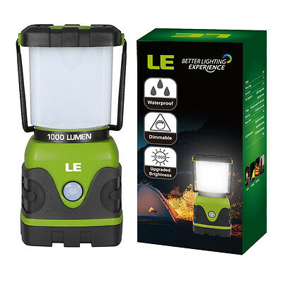 LE 1000lm Dimmable Portable LED Camping Lantern 4 Modes Water Resistant Light