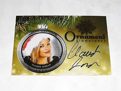 2015 Benchwarmer CLAUDIA JORDAN Holiday #37 Gold Ornament Auto Deal or No Deal